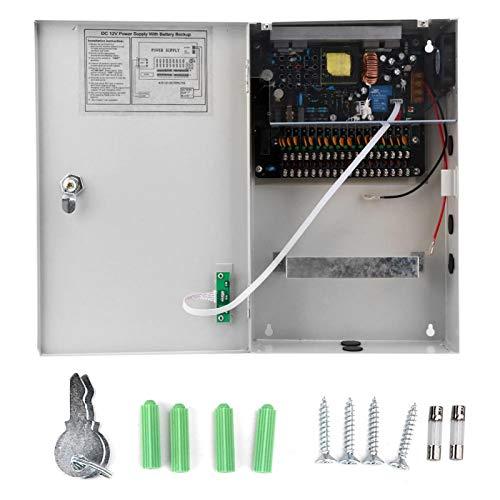 12V-30A-18CH Caja de Fuente de alimentación de Control de Acceso Fuente de alimentación de Acceso de Puerta Estable Caja de Fuente de alimentación Ventilador de refrigeración Natural