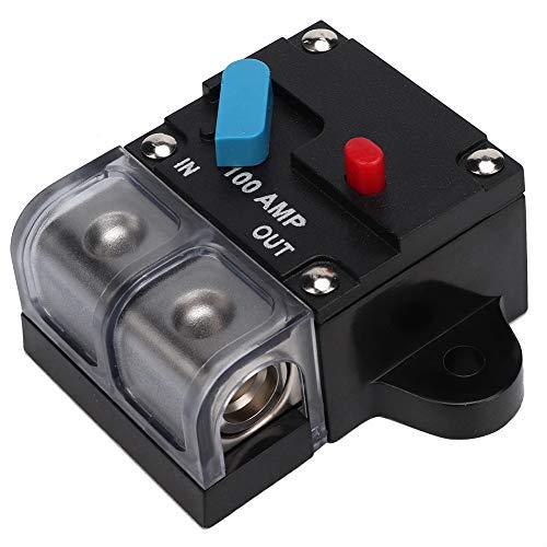 Disyuntor, disyuntor reiniciable para automóvil 80A-300A Fusible de recuperación automática Botón de reinicio manual para protección de audio y amplificadores(100A)