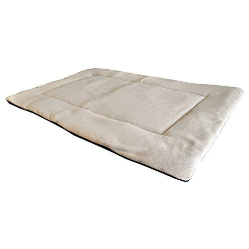Rantow Washable Soft Crate Mattress Pad Pet Dog Bed Puppy Cat Bed Blankets for Indoor Outdoor, Perfect for Funiture, Floors, Car Seats, Lawn, Couches (M, Beige)