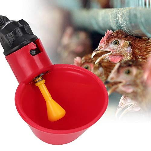 AUNMAS Pollaio per pollame 10Pz Accessori per Gabbie per Utensili per Acqua Potabile per abbeveratoi Automatici per abbeveratoi di Pollo per quaglie