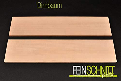 FEINSCHNITTkreativ Birnbaum-Massivholz-Zuschnitt | Verschiedene Größen und Stärken | ideal für Bastel- und Sägearbeiten 450 x 150 x 10 mm (2 Stück)
