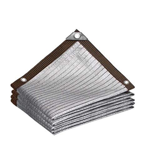 Lámina de aluminio antienvejecimiento Malla Resistente De ProteccióN Solar, 99% UV Blockage Power Telas Para Toldos Jardín Techo Balcón Planta Aislamiento de calor de automóvil Red de sombreado,2x4m