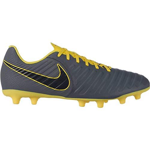 Nike Nike Legend 7 Club (Mg) Multi-Groun - Zapatillas de deporte (talla 6,5), color gris oscuro, negro y amarillo