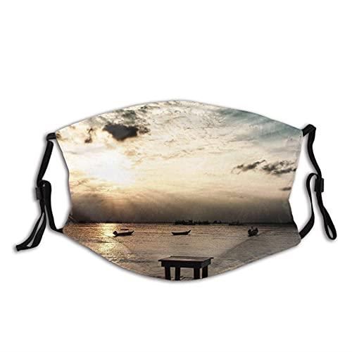 asdew987 Taburetes de playa para pesca en la puesta del sol, tela lavable, ajustable, de algodón, unisex para adultos y hombres