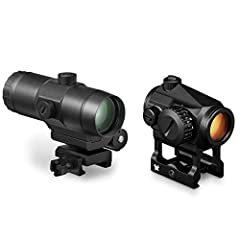 The updated Crossfire red dot is a no-nonsense sight for near any application when you need a simple point of aim. Pair with a VMX-3T to add 3x magnification by the push of a button, engaging the flip mount allowing the magnifier to lock in. The 2 MO...