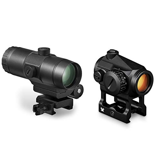 Vortex Optics Crossfire Red Dot Sight (CF-RD2) & 3X Magnifier w/Built-in Flip Mount (VMX-3T)