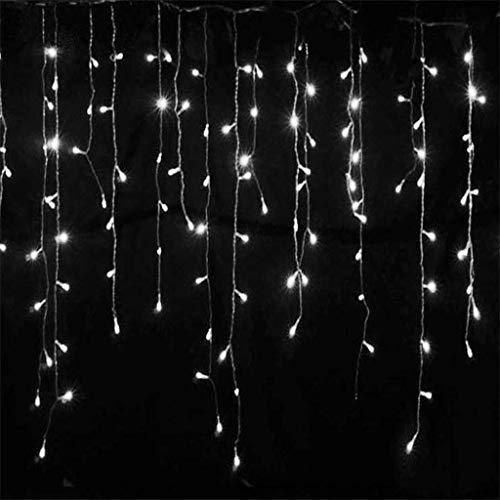 EAMBRITE 9.45m 320 LED Eiszapfen Lichterkette kühles weißes LED Lichtervorhang Lichterketten für Zuhause Weihnachten Hochzeit Fassaden