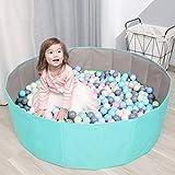 Kinder Spielen Ball Pool Baby Runde Bällebad komfortable Ocean Ball Pool Outdoor Indoor Kindergarten Baby Laufstall für Kleinkind Jungen Mädchen (Ball Nicht enthalten)