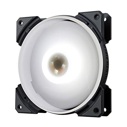 GOLDEN FIELD MH White PC Case Fan 120mm Silent LED RGB Cooling Fan for Computer PC Case CPU Cooler...