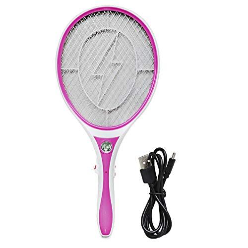 ALLPER Raqueta matamosquitos eléctrica, matamoscas. Puerto USB + 2 Pilas AA. El...