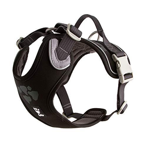 Hurtta Weekend Warrior - Arnés para perro con estampado de relector 3M, color negro (80 – 100 cm)