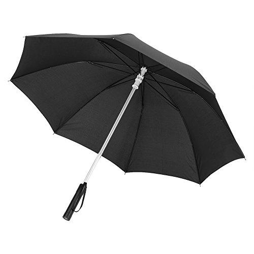 Lichtschwert Regenschirm LED Light Up, 7 Farbwechsel LED Regenschirm Taschenlampe für sicheres Gehen in der Nacht, Regenschirm mit Taschenlampenfunktion, (batteriebetrieben)(Schwarz)