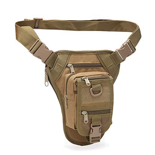 SENFEISM Bum Bolsa Cintura Cinturón Pack Hombres Nylon Motocicleta Rider Bag Hip Bum Tácticas Bolsas Militares Para