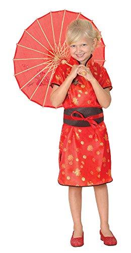 Bristol Novelty CC753 Costume de Fille Chinoise, Taille, Noir, Grand