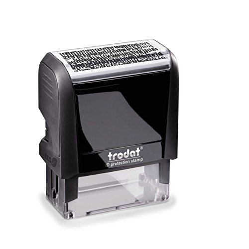 Trodat Printy 4912 zelfkleurende beschermingstempel, heikle, persoonlijke gegevens onherkenbaar maken, afdruk 47 x 18 mm, camouflage zwart