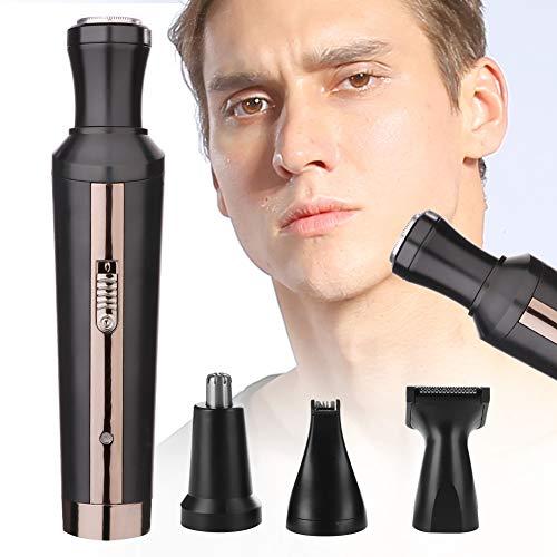 Recortador de barba para hombres, maquinilla de afeitar húmeda/seca, cortapelos multifuncional para las patillas de las cejas del pelo de la nariz, juego de recortadores de barba con 4 recortadores de