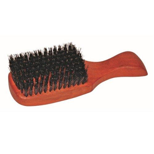 Herren Haarbürste, hochwertige Kopfkardätsche mit Stiel, aus geöltem Birnenholz, mit Wildschweinborsten, Größe 175 x 54 mm, hergestellt in Deutschland