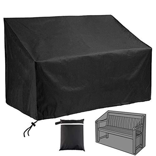 OldPAPA Abdeckung für Terrassenbank, 3-Sitzer, Outdoor-Stuhl-Abdeckung, 210D, wasserdicht, winddicht, Gartenmöbel-Abdeckung, UV-Schutz, für den Außenbereich (163 x 66 x 89 cm)