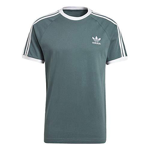 adidas 3 Stripes T-Shirt (L, Hazy Emerald)