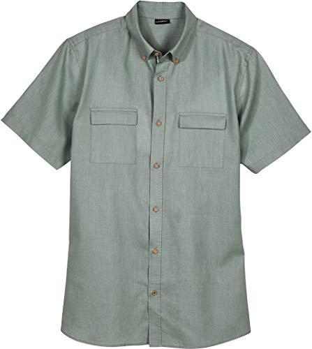 Livergy® Herren Leinenhemd Sommerhemd, Kurzarm (salbeigrün, Gr. XL - 43/44)