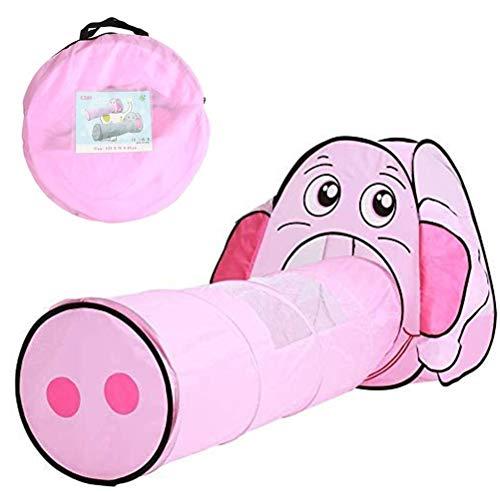 LDFANG Kindertunnelzelt Piktogramm Faltbares Spielzelt, Drinnen Und Draußen Als Geburtstags-weihnachtsspielzeuggeschenk (pink) Verwendet