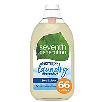 Seventh Generation Laundry Detergent Ultra Concentrated EasyDose Free & Clear 23 oz 66 Loads  Packaging May Vary
