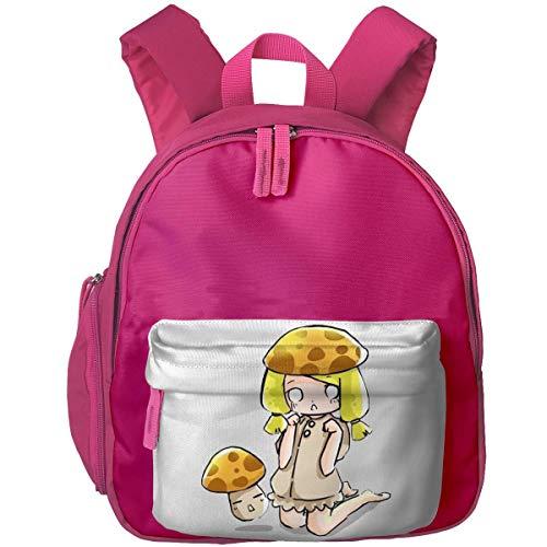 Hdadwy Mini Bolsas de jardín de Infantes para niños Mochilas Estampadas niña de Setas para niño