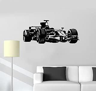 V-studios Vinyl Decal Formula 1 Race Car Garage Decor Children's Room Wall Sticker 118ig