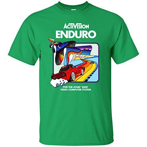 Enduro, Activision, Racing, Retro, Atari, 2600, Console, 1980's Men's T-Shirt,Irish Green,L