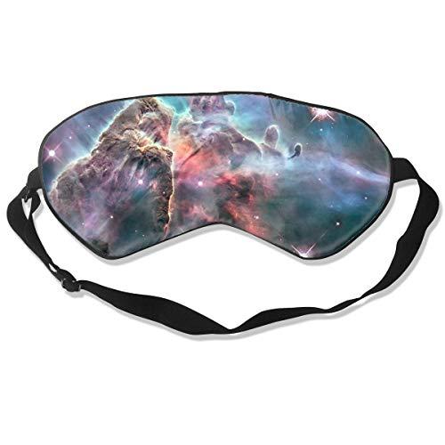 CARINA NEBEL BILD vom Hubble Space Teleskop Optimale Schlafmaske für Augenmaske, geeignet für Reisen, Nickerchen, Meditation, Augenmaske mit verstellbarem Gurt, männlich, weiblich