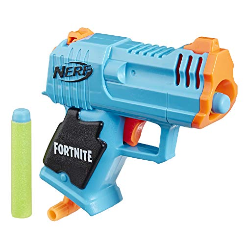 NERF Fortnite Micro HC-R Microshots Dart-Firing Toy Blaster & 2 Official Elite Darts for Kids, Teens, Adults
