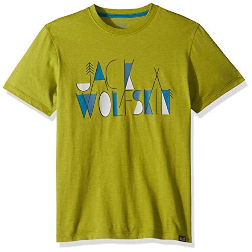 Jack Wolfskin Jungen Brand T-Shirt, Green Tea, 92