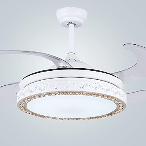 LGOO1 Lámpara LED inteligente para ventilador de techo, lámpara de control remoto invisible creativa, diseño único, ventilador silencioso, luz moderna para el hogar Luminaria colgante de larga duració