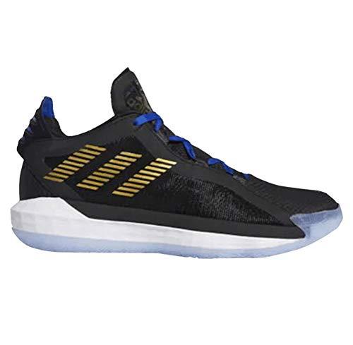 adidas Dame 6 Zapatos de baloncesto para hombre Fu9447, Negro (Negro y dorado metálico.), 45 EU