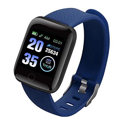 Impermeable IP68 Fitness Tracker Smartwatch Podómetro Color Screen Pulsera Actividad Reloj Inteligente Mujer Hombre, con Notificación de Llamada Monitoreo del Sueño para Android/iOS,Azul