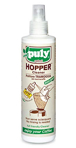 Bio-Reiniger-Spray für Kaffeemühle & Chromteile von Puly Grind 200 ml / Hopper Cleaner / Made in Italy
