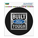 Graphics and More Ford Built Ford Tough Automotive Car Window Locker Circle Bumper Sticker