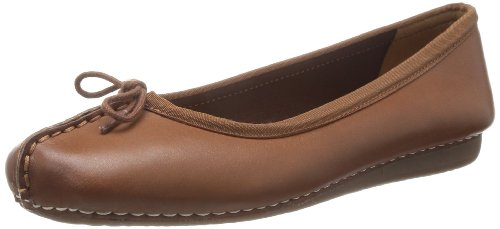 Clarks Damen Mokassin Ballerinas, Braun (Dark Tan Leather), 42 EU