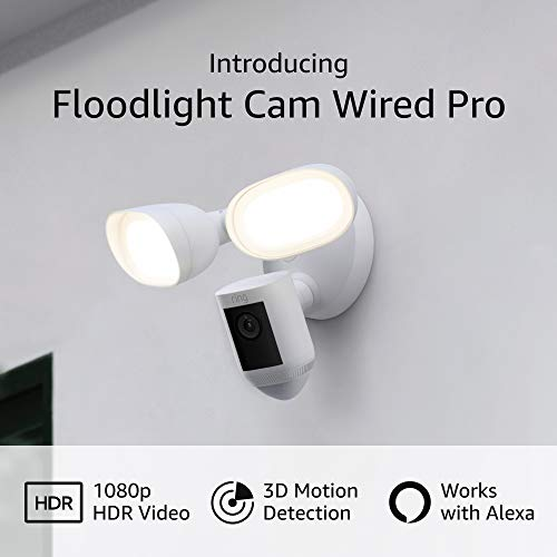 Introducing Ring Floodlight Cam Wired Pro with Bird's Eye View and 3D...