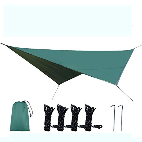 Cyiflg-yi Lopad-tent Outdoor Sky Curtain Multi-functional Mat Improvised Tent Camping Supplies Walking Camping Tent Cloth (Color : Green)