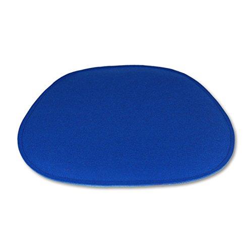 filzbrand Coussin de siège en Feutre Design déco Premium (100% Laine), pour Eames Chairs, en Forme de trapèze, Longueur : 35 cm, Largeur : env. 38/20 cm, Bicolor : Bleu Moyen/Bleu