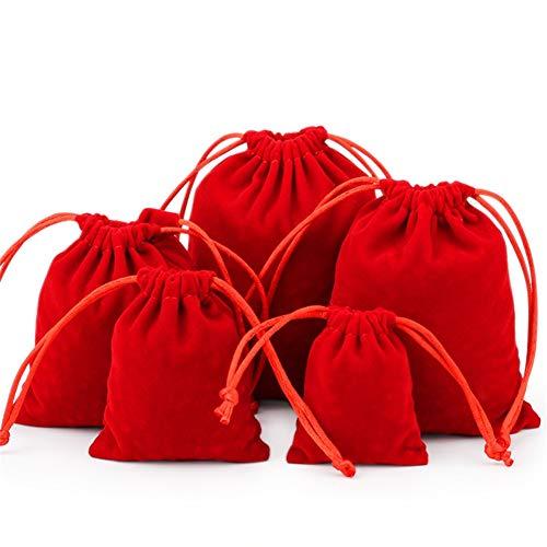 KANKOO Bolsa de Regalo con Cordón Bolsas Arroz Boda Dulces Bolsas de Regalo Pequeña Bolsa Navidad Accesorio Giftmate Bolsas de Muselina a