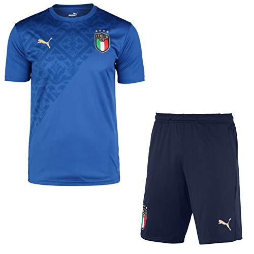 PUMA Italien Trikot + Short Stadium Home Outfit Stadium Home Herren WM 2020 (2021), Größe:S