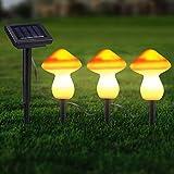 Changor Luces de jardín Solar, Luces de Tierra Solar incisivas 185 cm componentes plásticos y eléctricos Hechos 1.2V para la vía Exterior (Rojo)