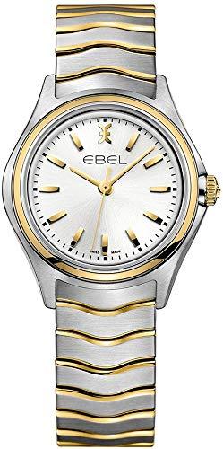 Ebel Wave Reloj para Mujer Analógico de Cuarzo Suizo con Brazalete de Acero Inoxidable 1216195