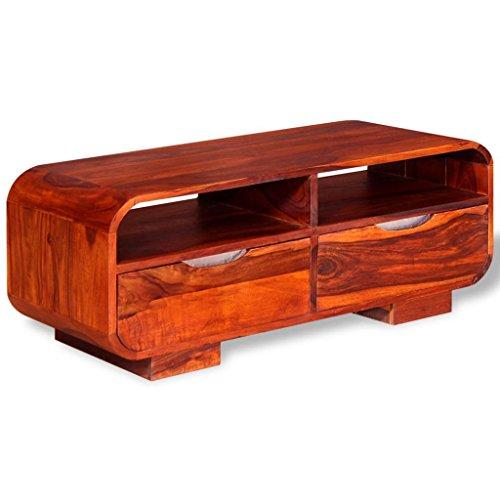 vidaXL Table Basse Table de Salon Bois de Sheesham Massif 90 x 40 x 35 cm