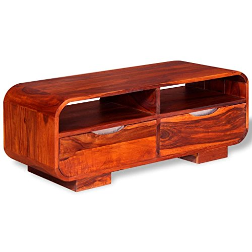 vidaXL Table Basse Table de Salon Bois de Sheesham Massif 90 x 40 x 35 cm