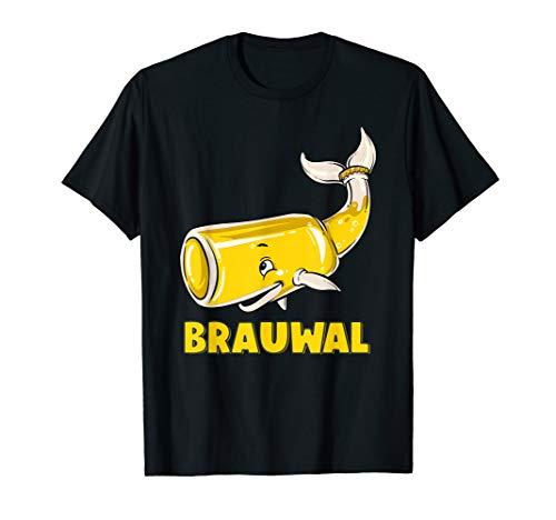 Lustiges Brauwal Wortspiel Wal Bier Saufen Geschenk T-Shirt