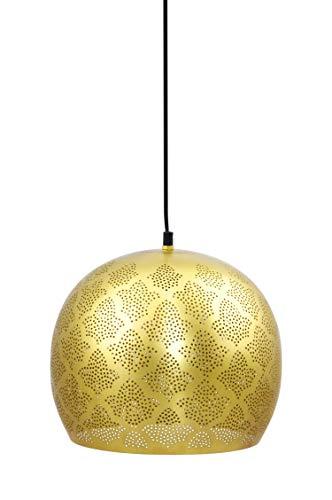 MAADES Orientalische Lampe Pendelleuchte Rayhana 30cm Gold E27 Lampenfassung | Marokkanische Design Hängeleuchte Leuchte | Orient Lampen für Wohnzimmer, Küche oder Hängend über den Esstisch