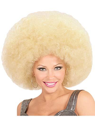 Reuze Afro Pruik Blond